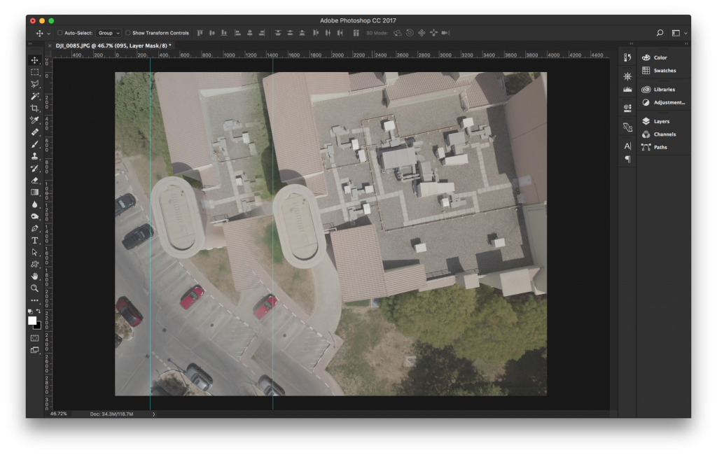Aerial mapping, overlap assessment. Side overlap.